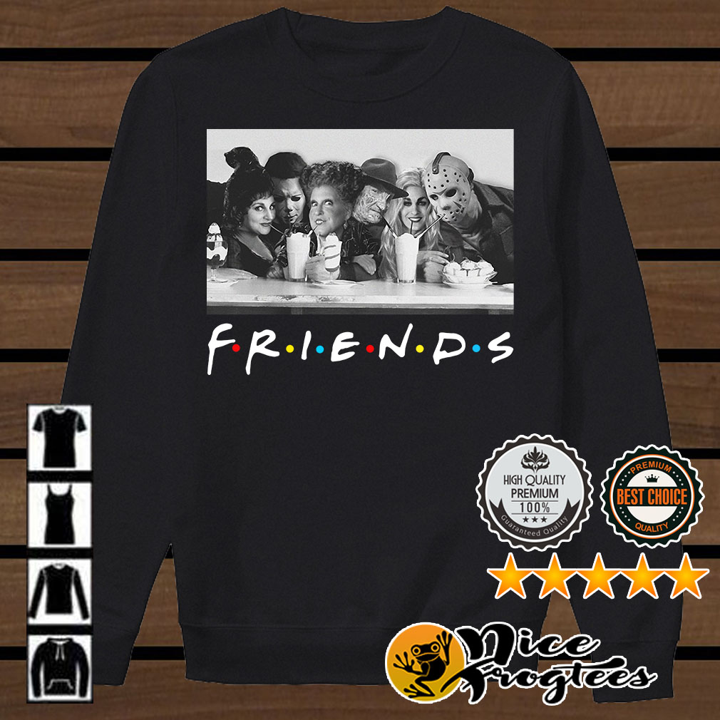 Friends Mary Sanderson Michael Myers and Winifred Sanderson horror movies shirt