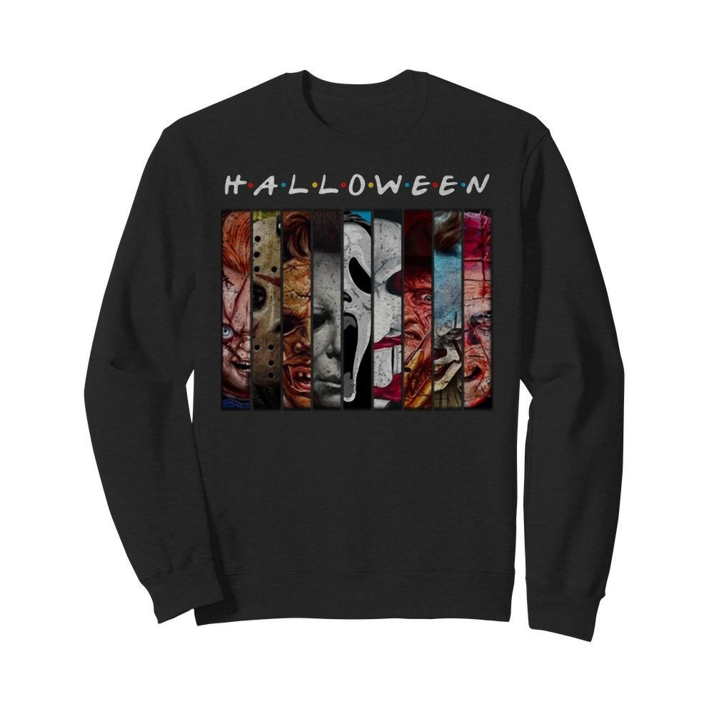 Friends TV Show horror characters movies Halloween Sweater