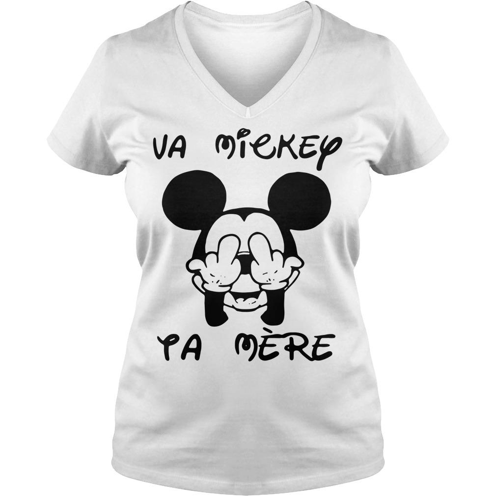 Fucking va Mickey ta mere V-neck t-shirt