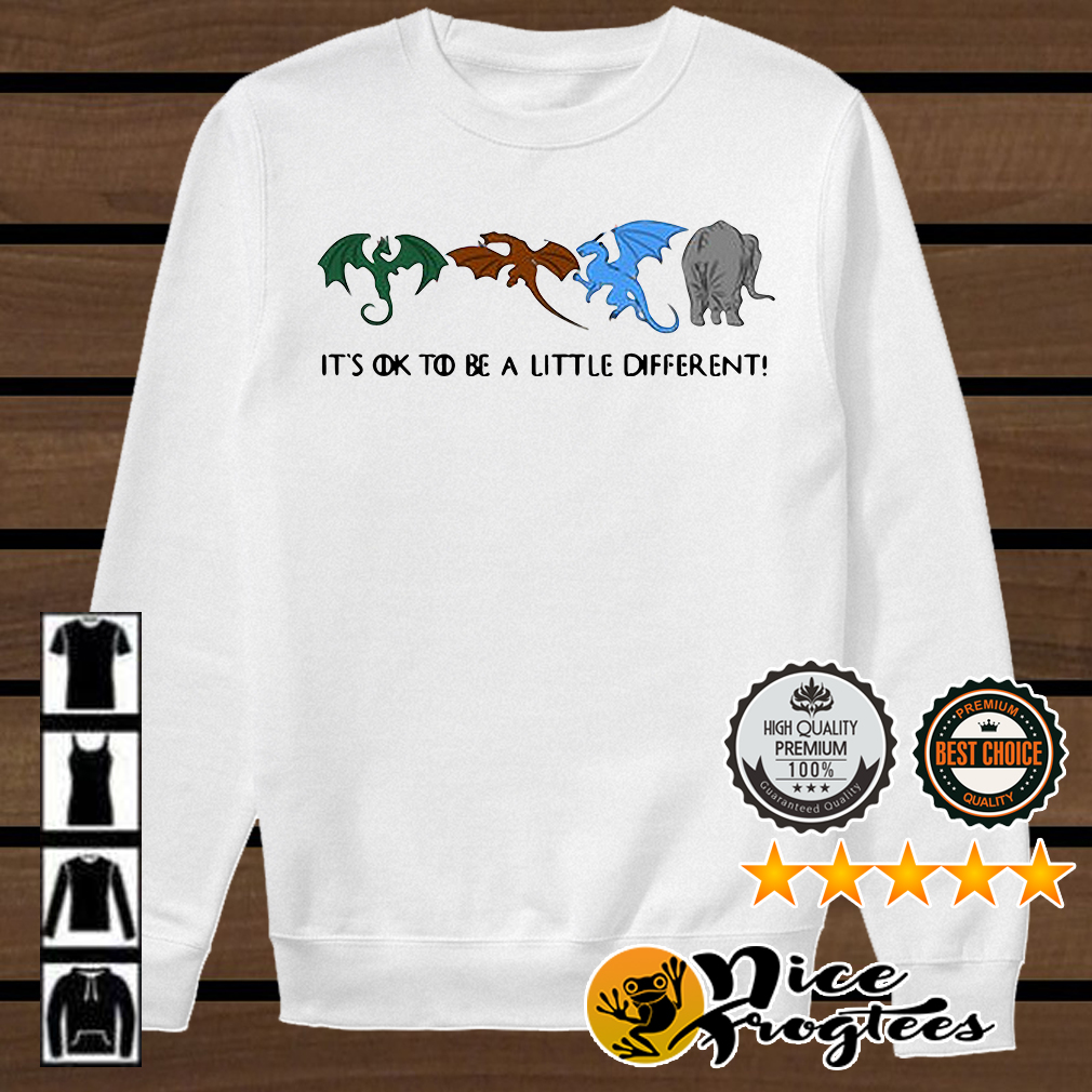 Game of Thrones autism dragons and elephant it's ok to be a little different shirt