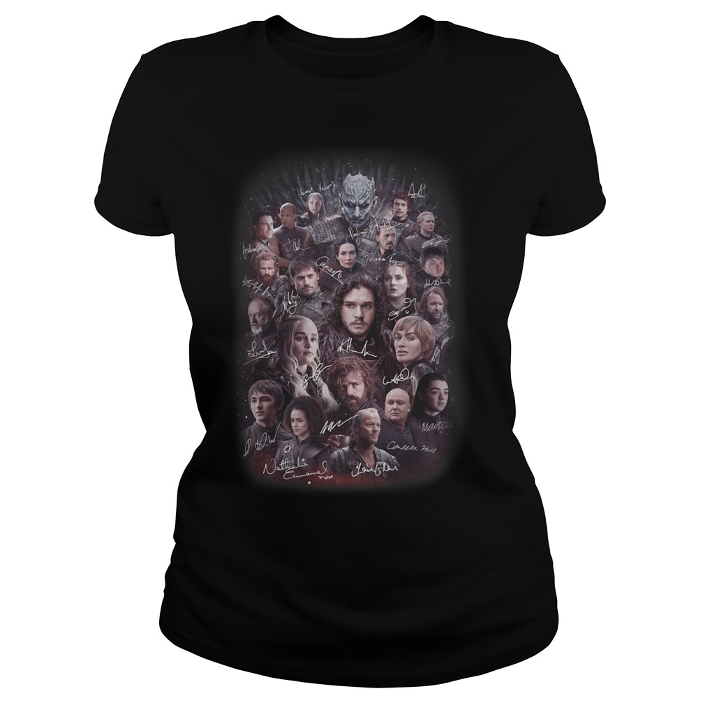 Game of Thrones all characters signature Ladies tee