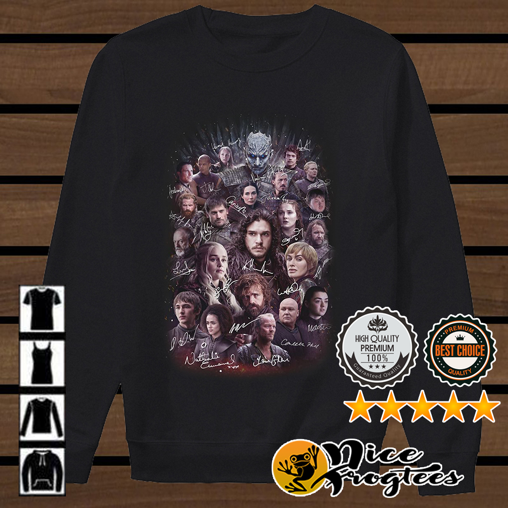 Game of Thrones all characters signature shirt