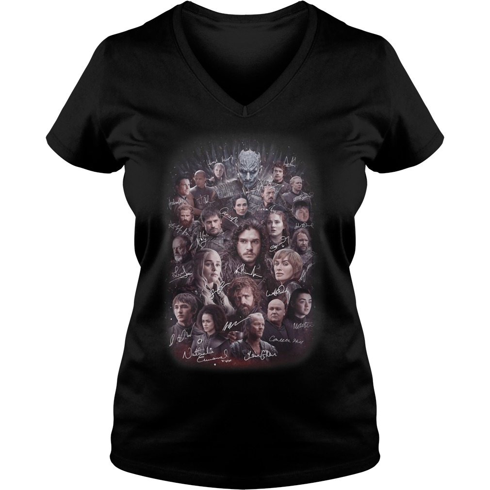 Game of Thrones all characters signature V-neck t-shirt