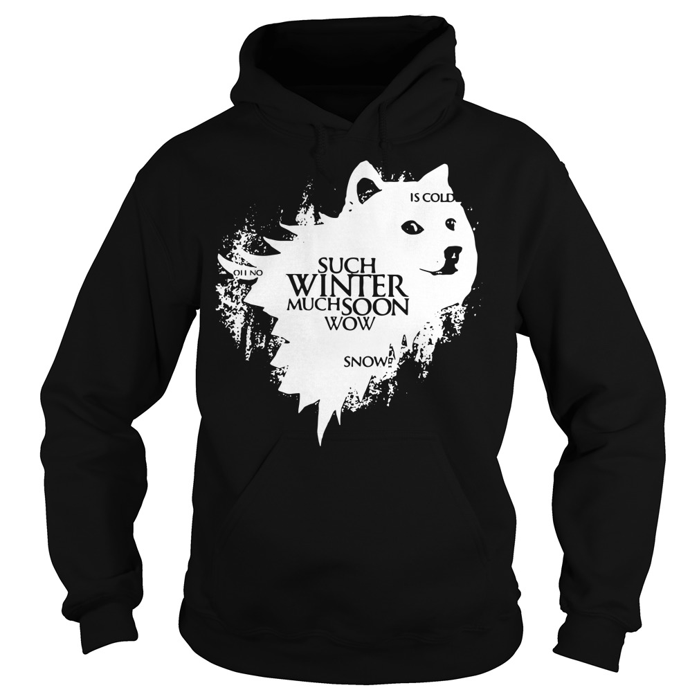Game Of Thrones Doge oh no such winter much soon wow snow is cold Hoodie