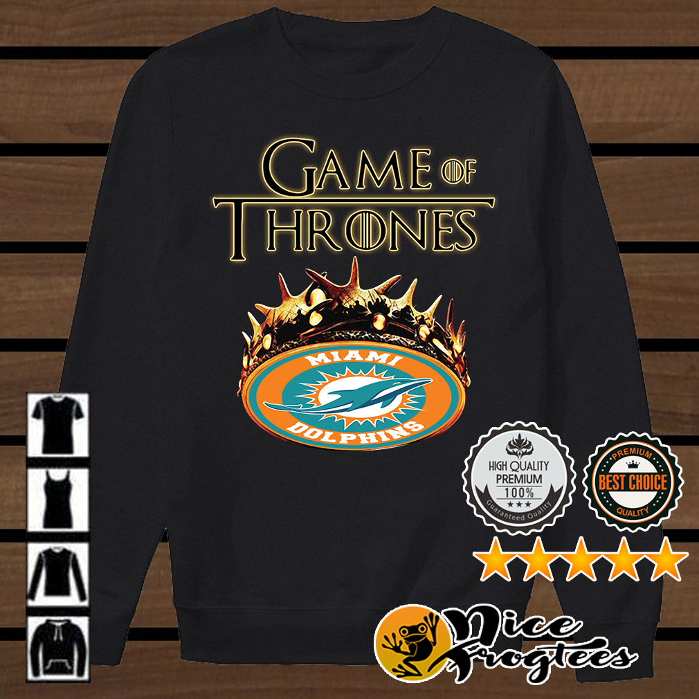 Game of Thrones Miami Dolphins mashup shirt