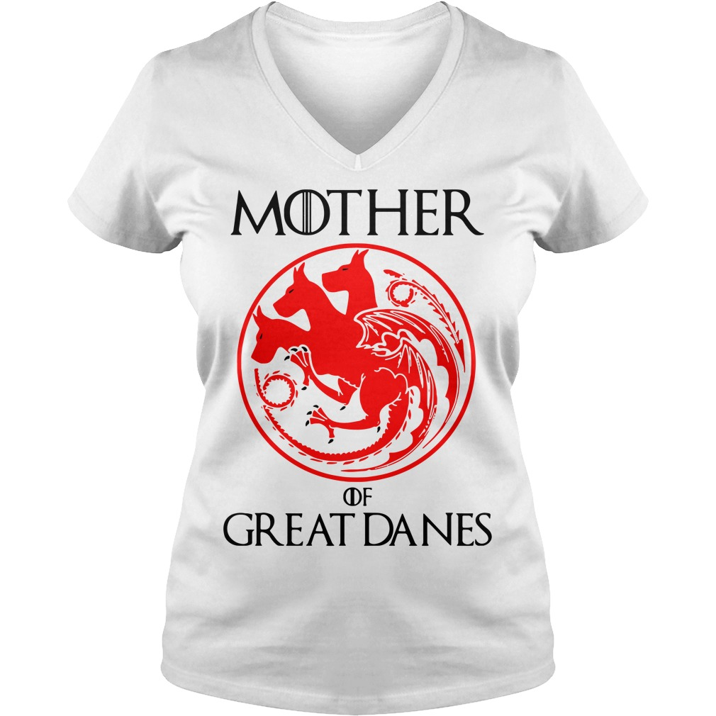 Game of Thrones Mother of Great Danes V-neck t-shirt