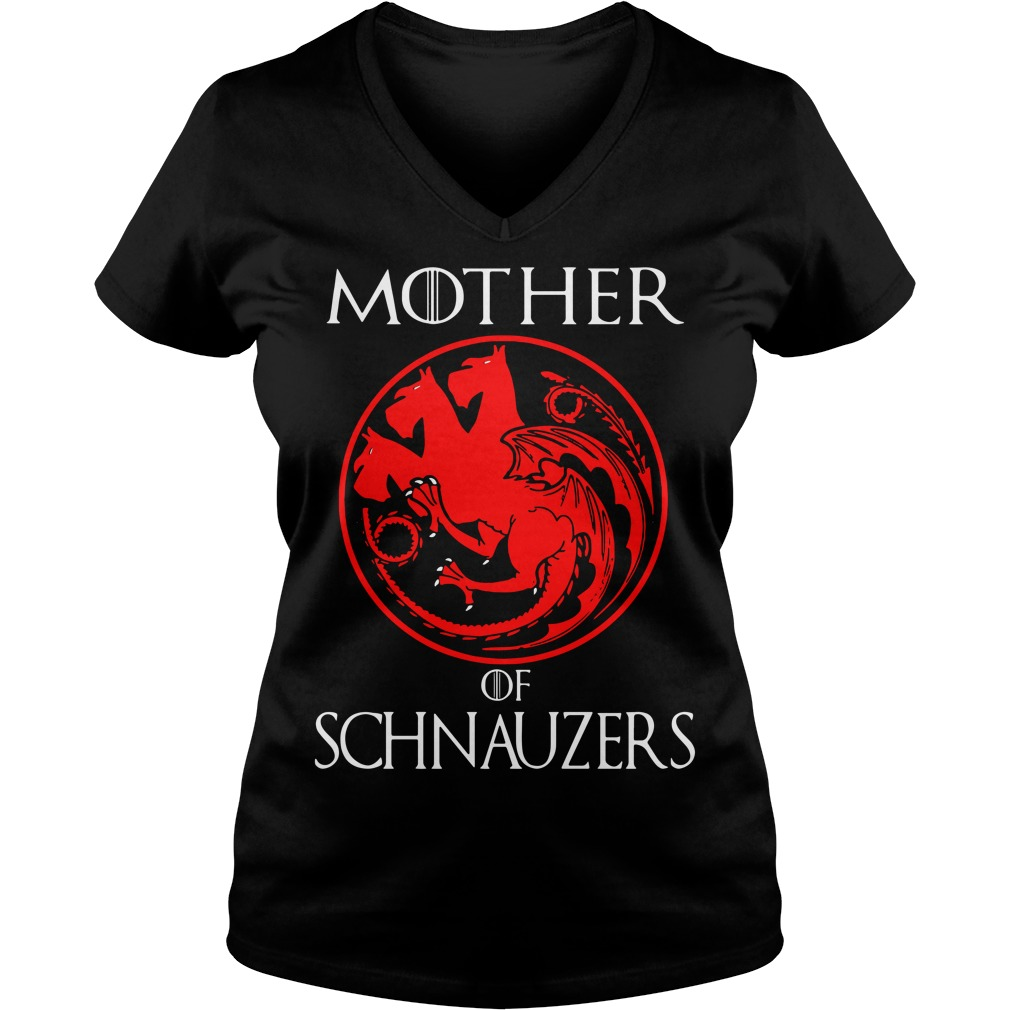 Game of Thrones Mother of Schnauzers V-neck t-shirt