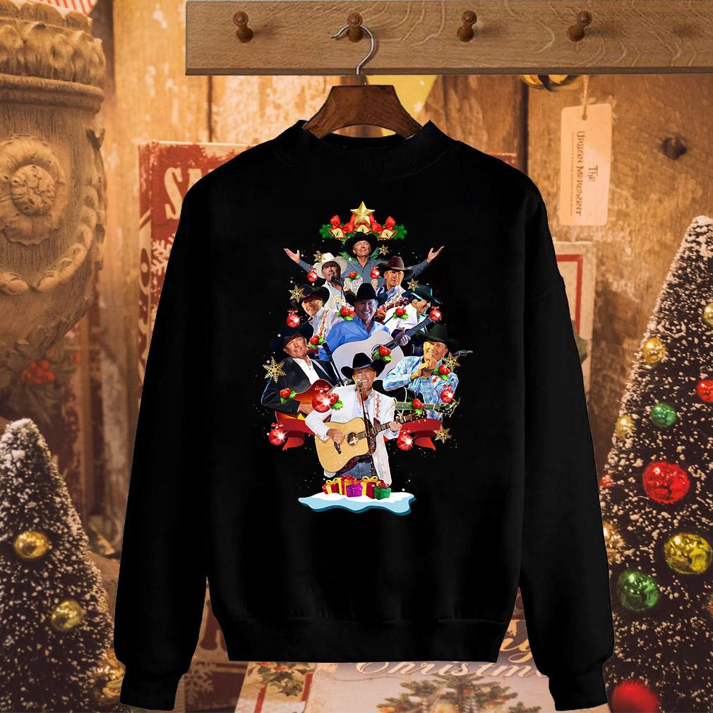 George Strait Christmas tree sweater