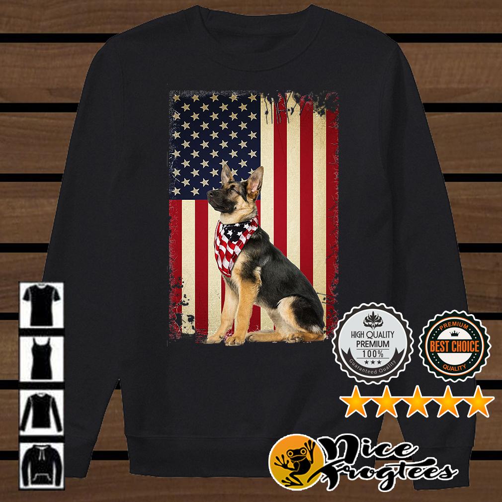 German shepherd America flag shirt