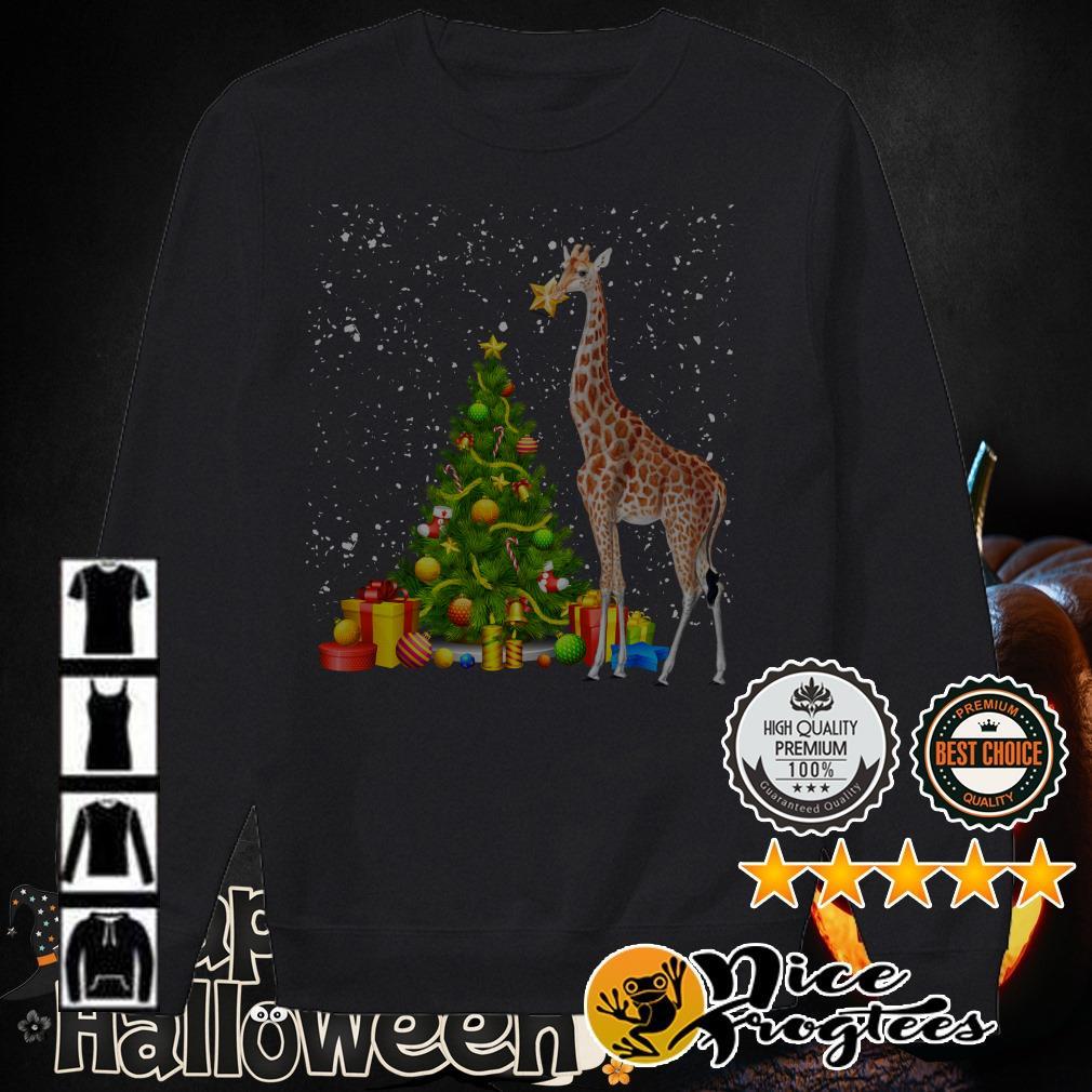 Giraffe and Christmas tree shirt