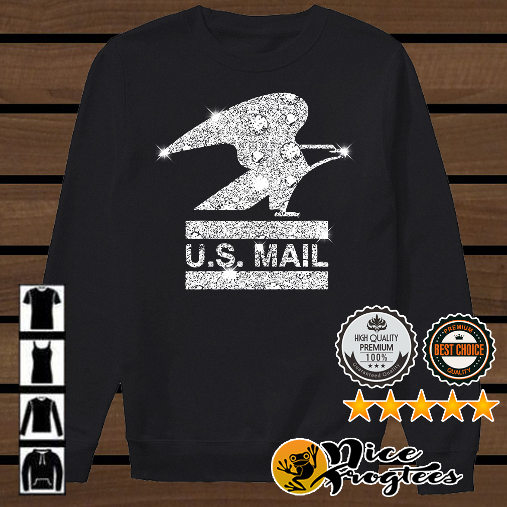 Glitter diamond US mail shirt