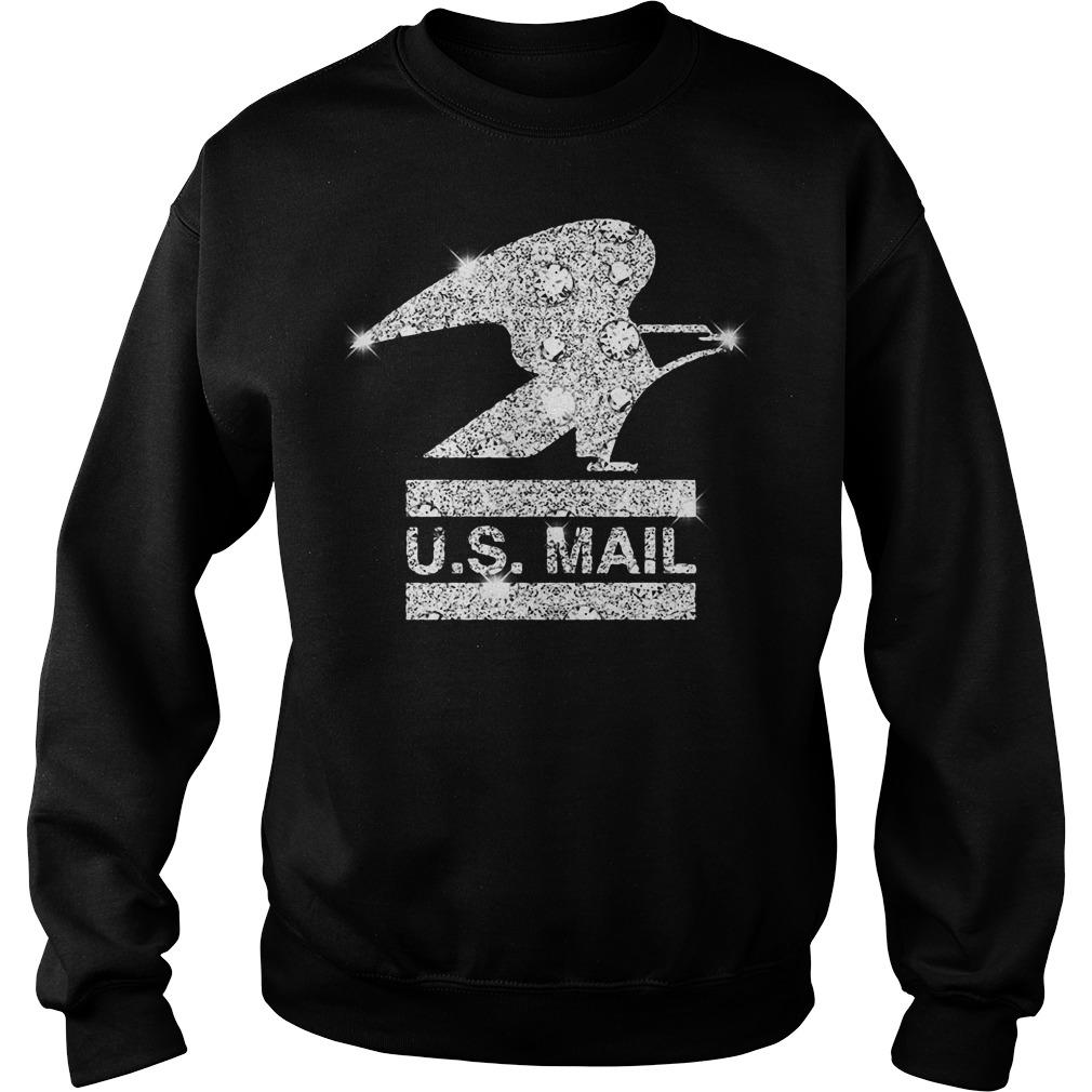 Glitter diamond US mail Sweater