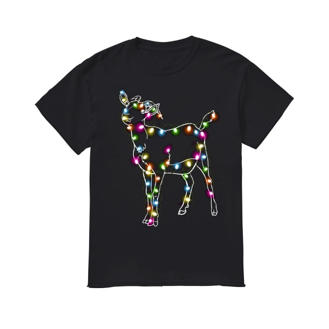 Goat Christmas lights shirt