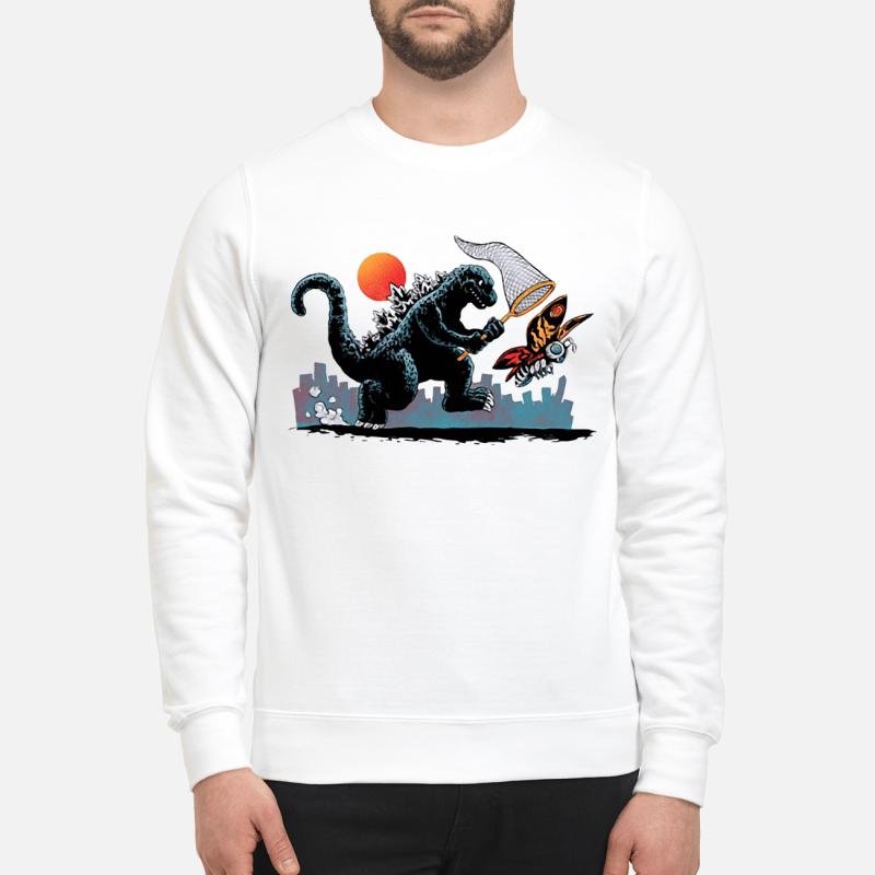Godzilla catching Kaiju Sweater