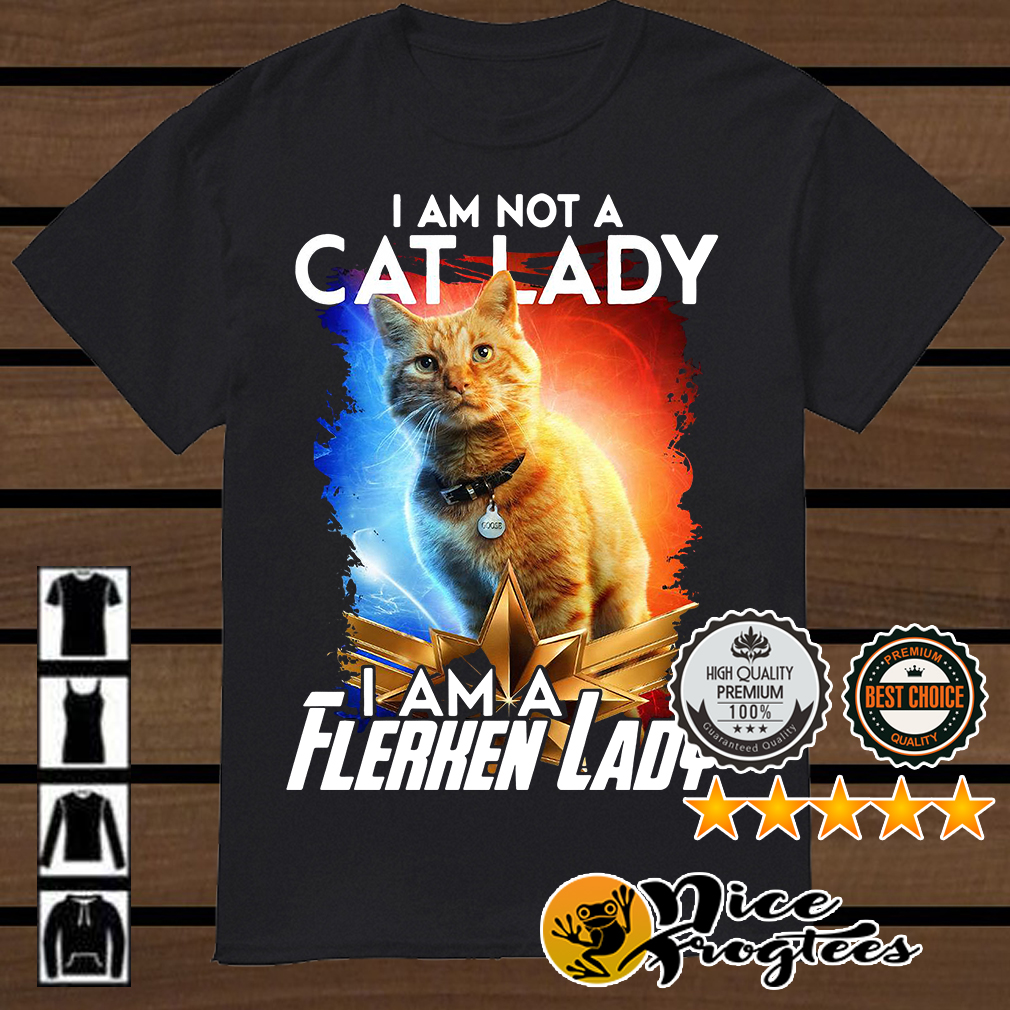Goose the Cat Captain Marvel I am not a cat lady I am a Flerken lady shirt