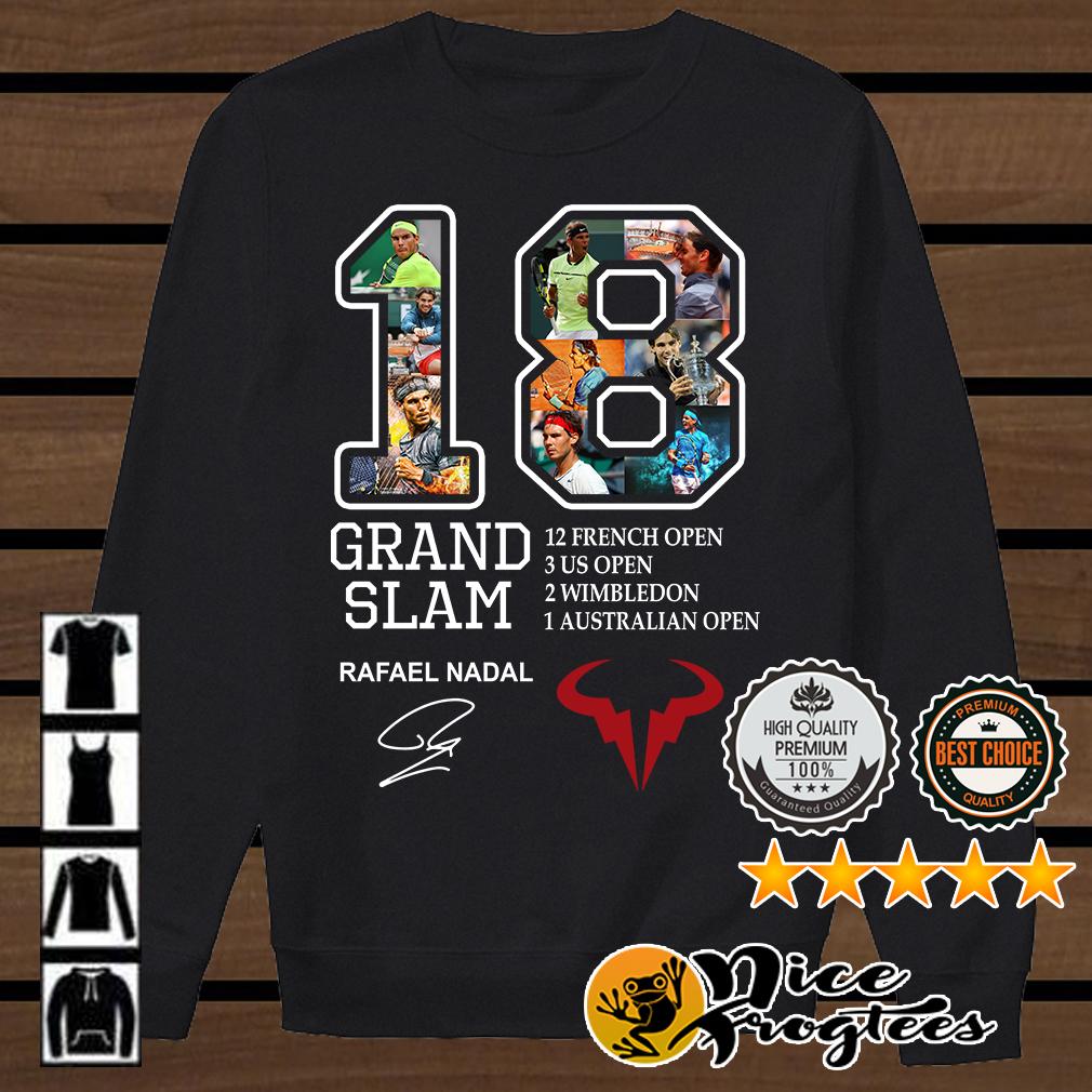 Grand Slam 18 Rafael Nadal signature 12 French open shirt