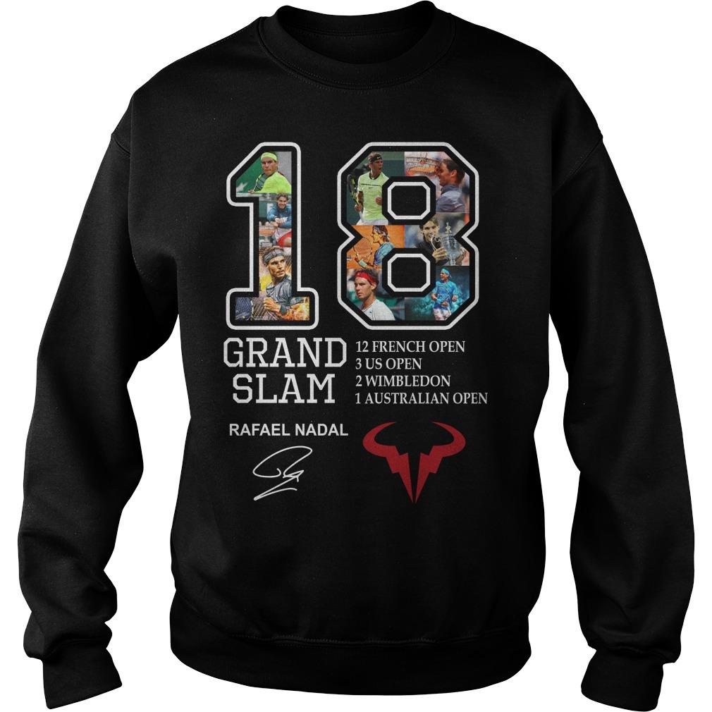 Grand Slam 18 Rafael Nadal signature 12 French open Sweater