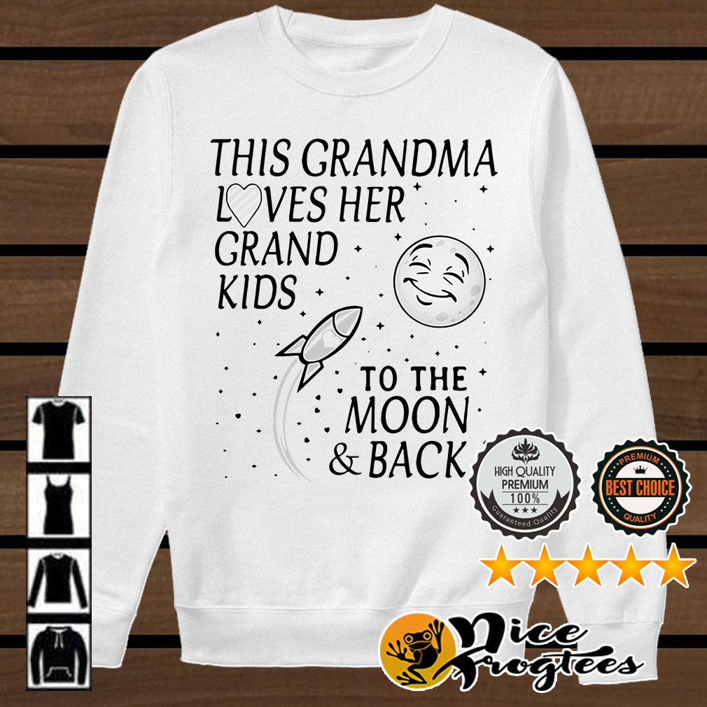 This grandma loves her grandkids to the moon and back shirt