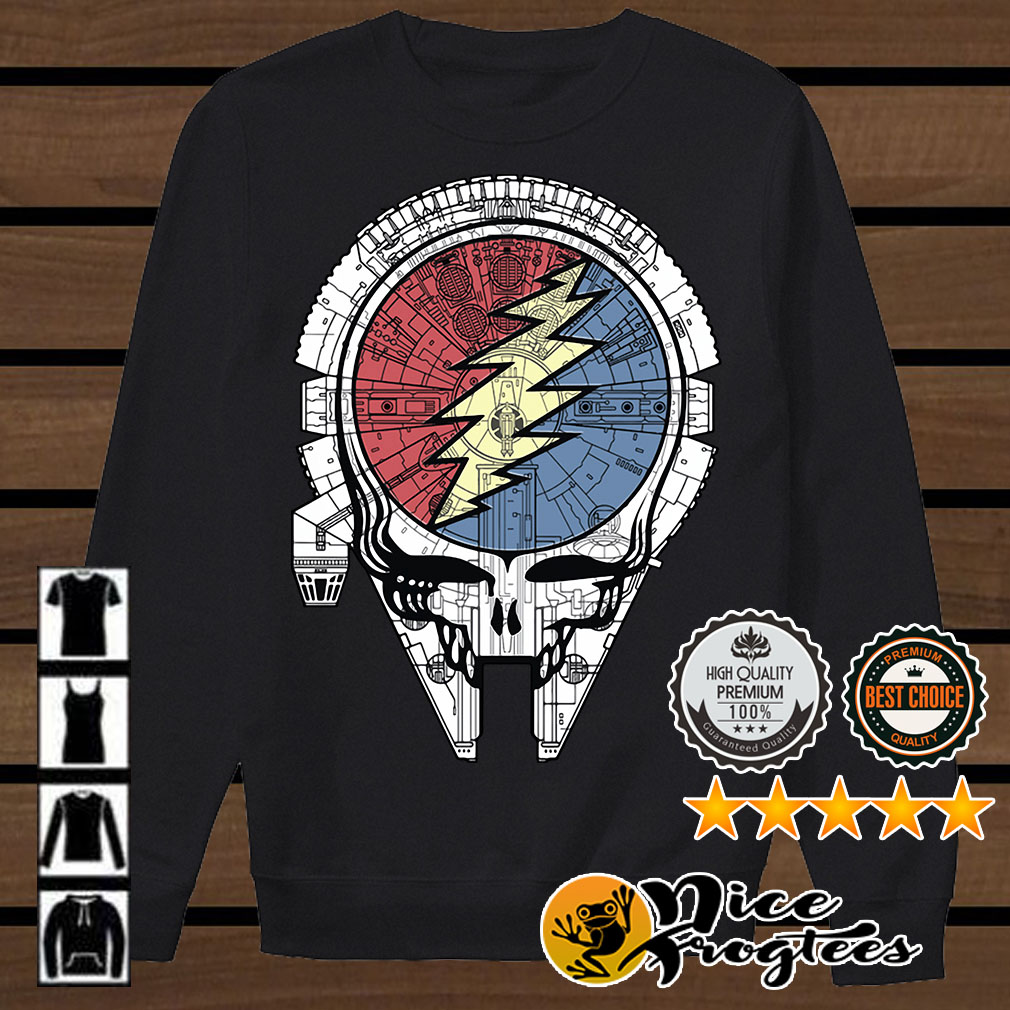 Grateful dead steal your face Millennium Falcon shirt