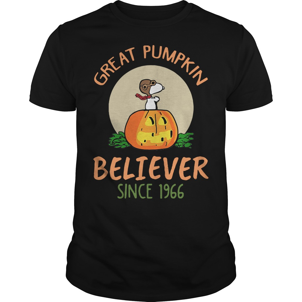 Snoopy great pumpkin believer since 1966 shirt