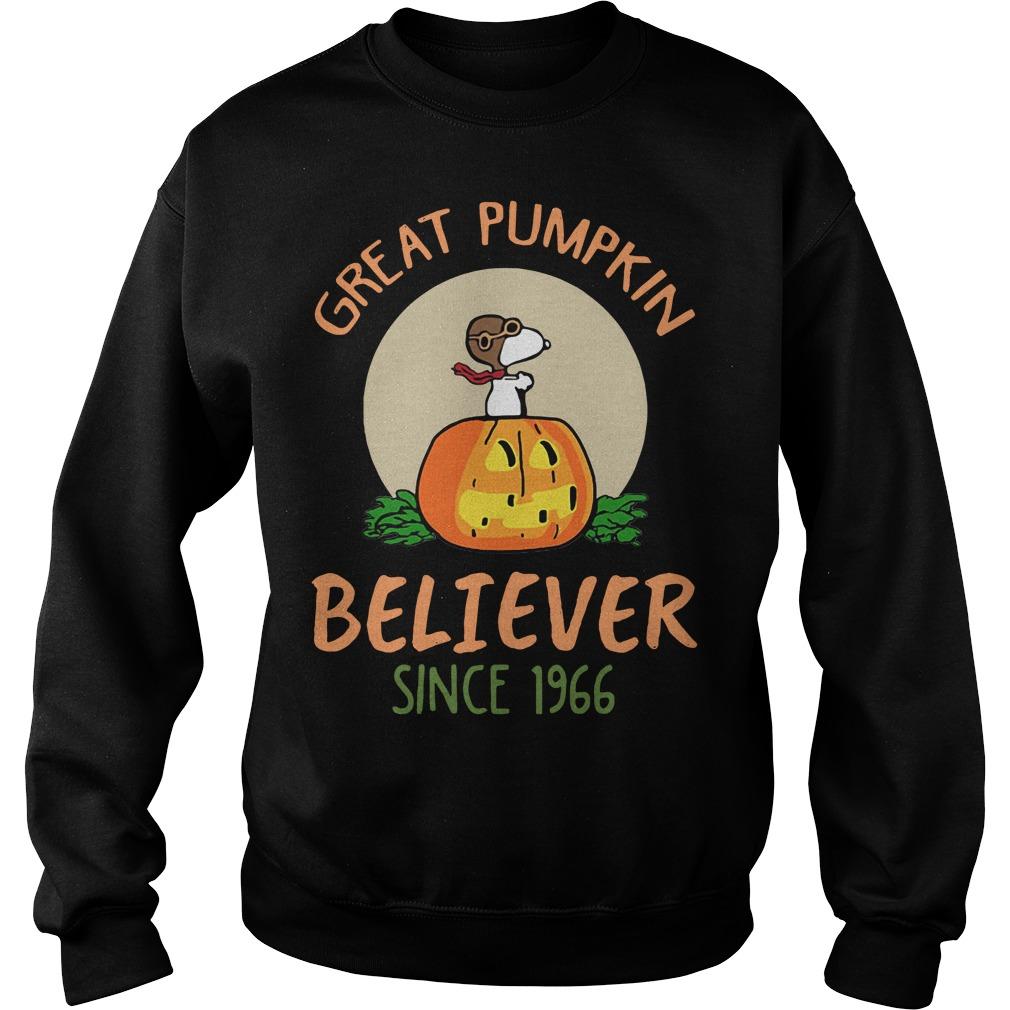 Snoopy great pumpkin believer since 1966 Sweater