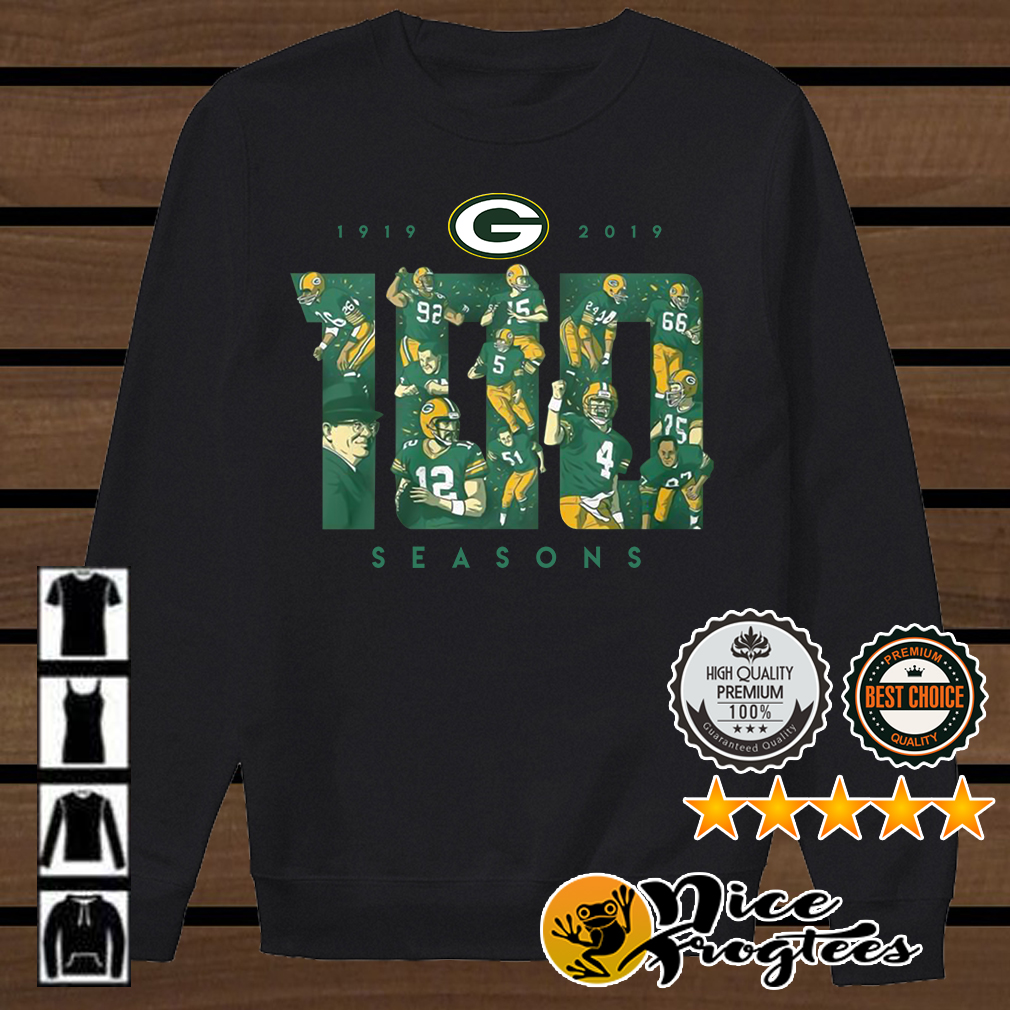 ff09fbd8 Green Bay Packers 100 seasons 1919 2019 shirt, hoodie and sweater