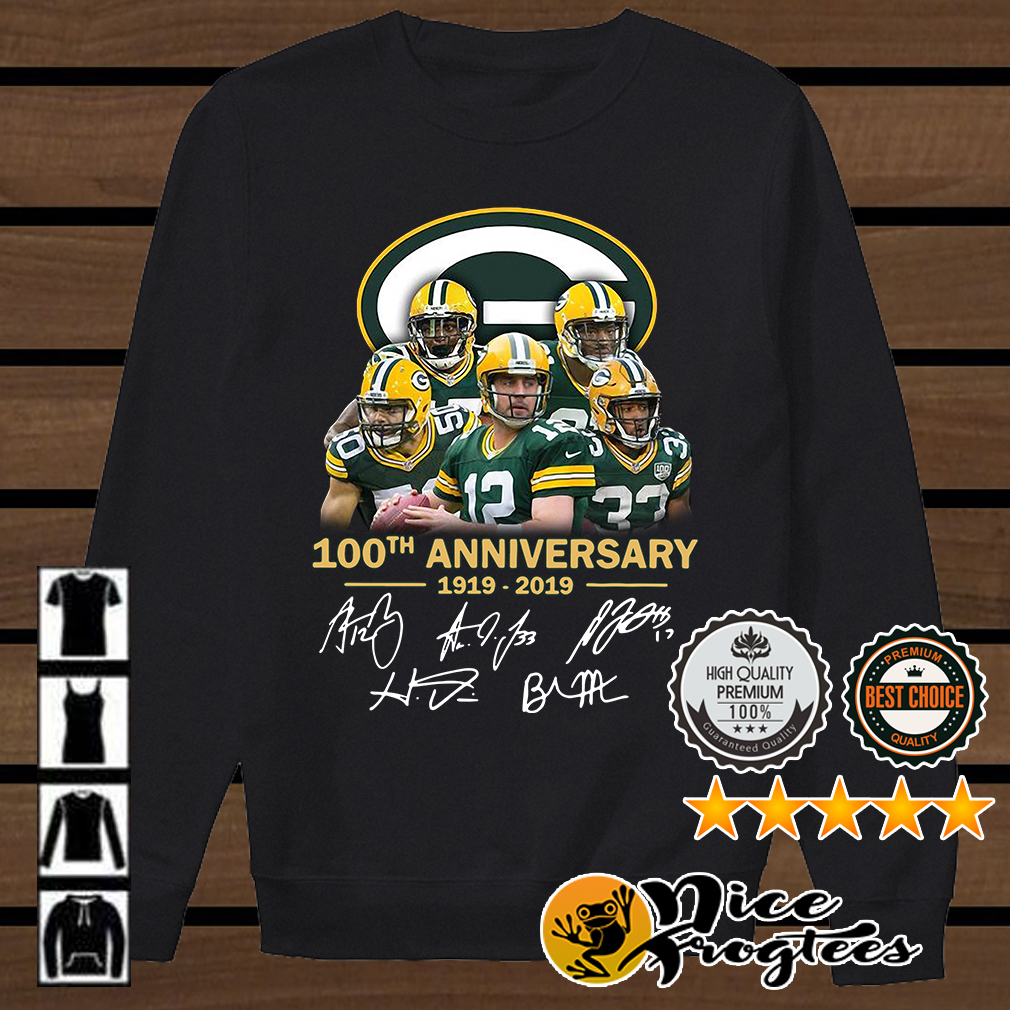online retailer 1e0a2 f8560 Green Bay Packers 100th anniversary 1919 2019 signature ...