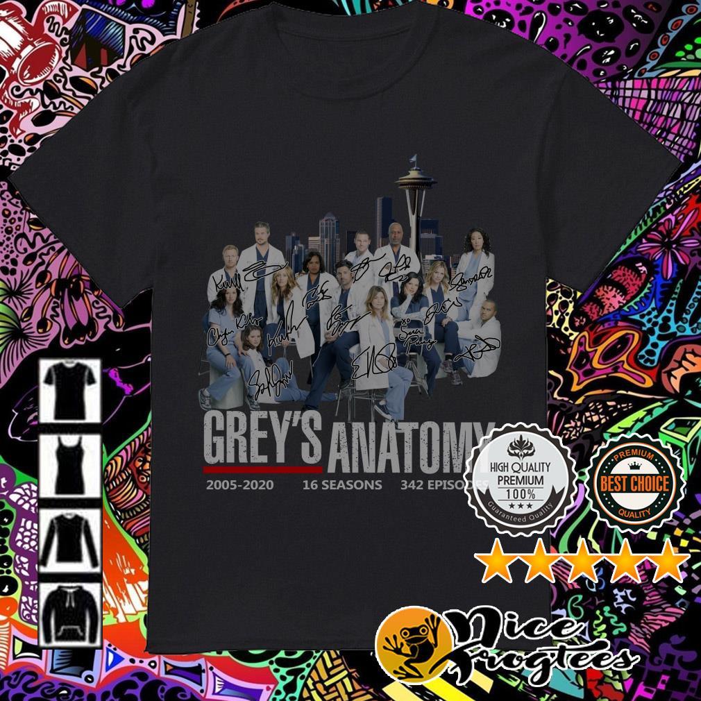 Grey's Anatomy 2005-2020 16 seasons 342 episodes shirt
