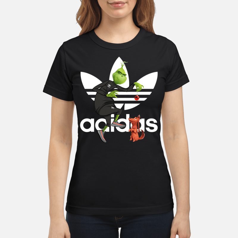 Grinch and Max Adidas Ladies tee