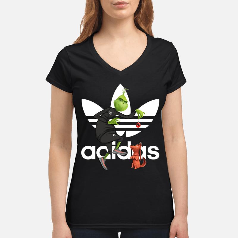 Grinch and Max Adidas V-neck t-shirt