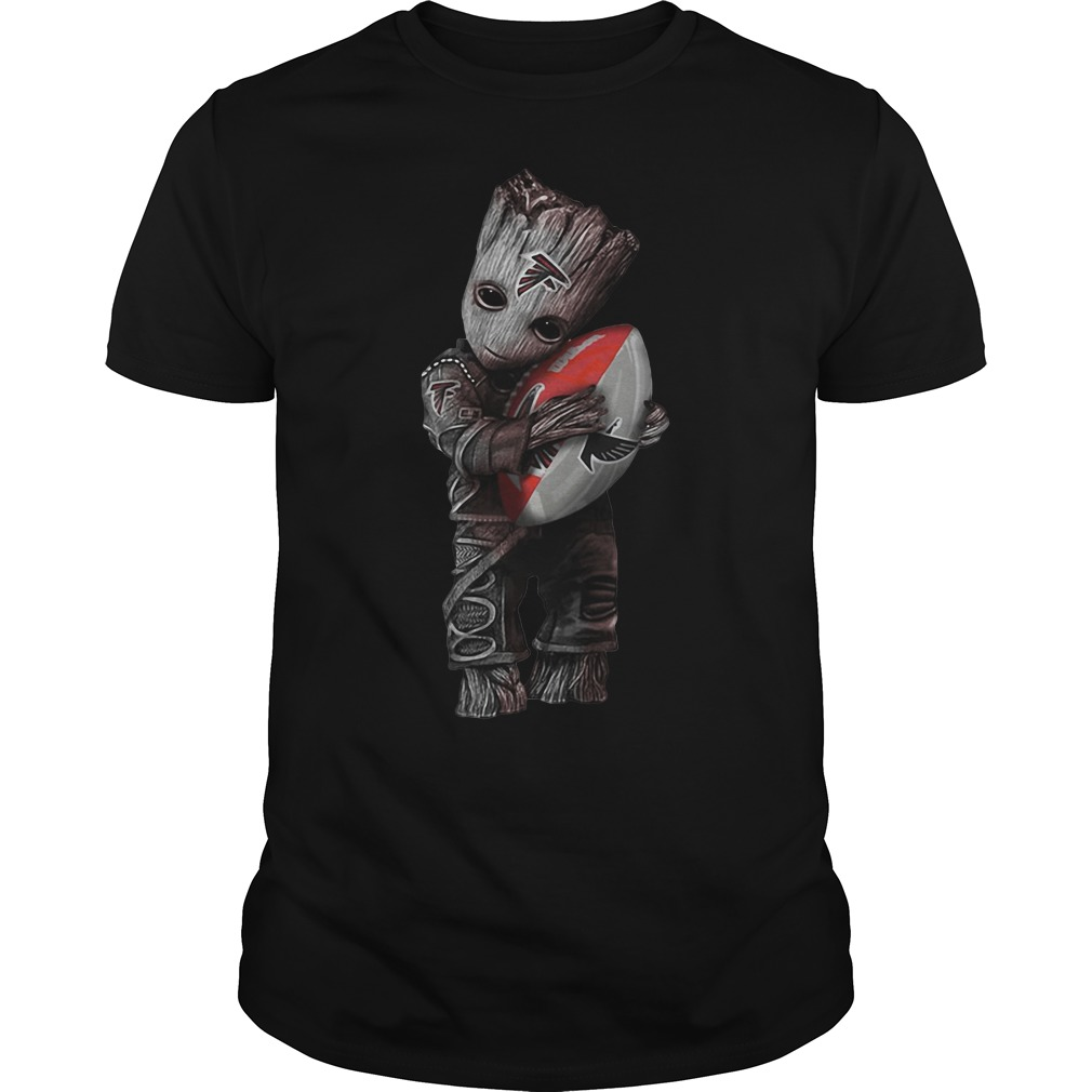 Groot hug Atlanta Falcons shirt
