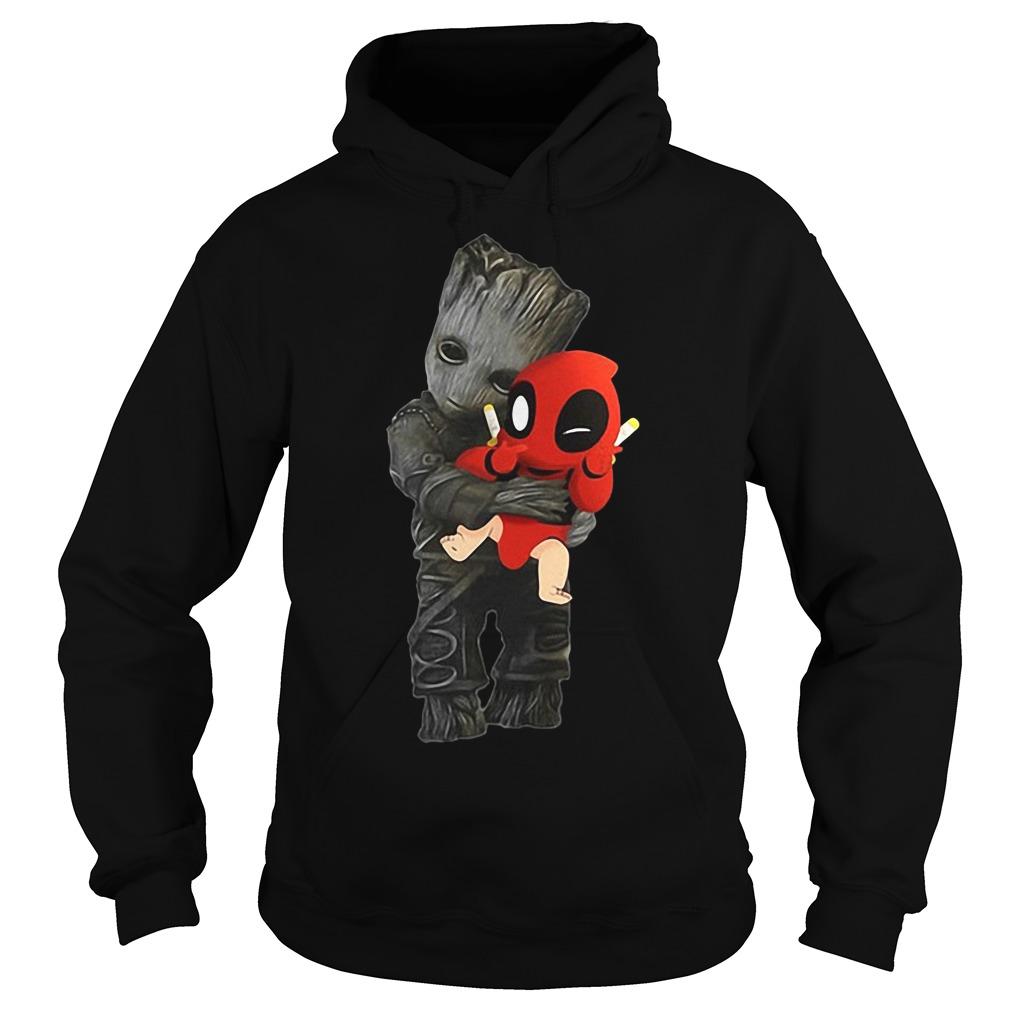 Groot hug Baby Deadpool Hoodie