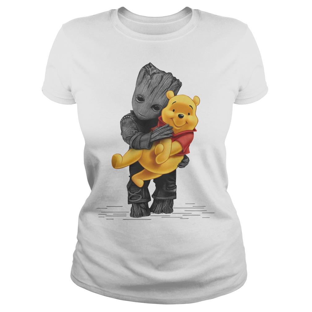 Groot hug baby Pooh Ladies Tee