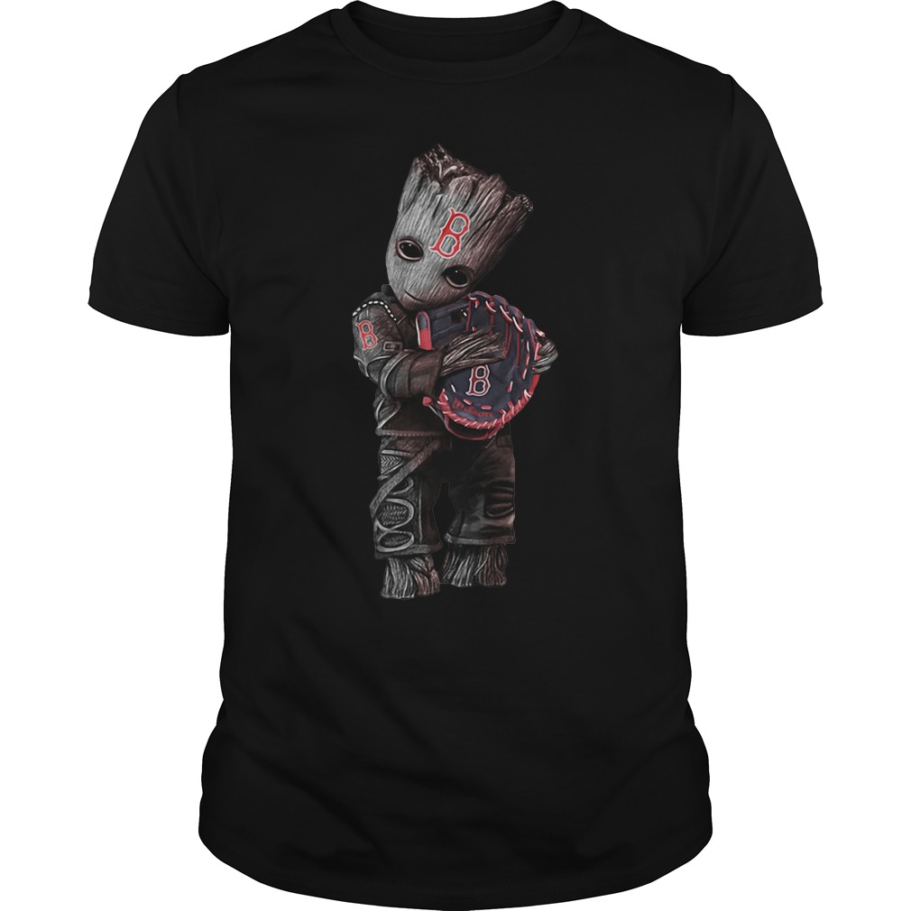 Groot hug Boston Red Sox shirt