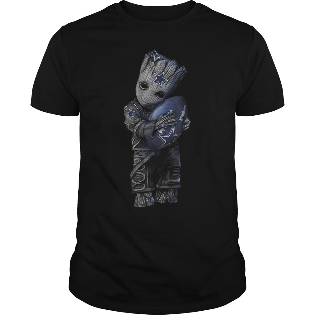 Groot hug Dallas Cowboys shirt