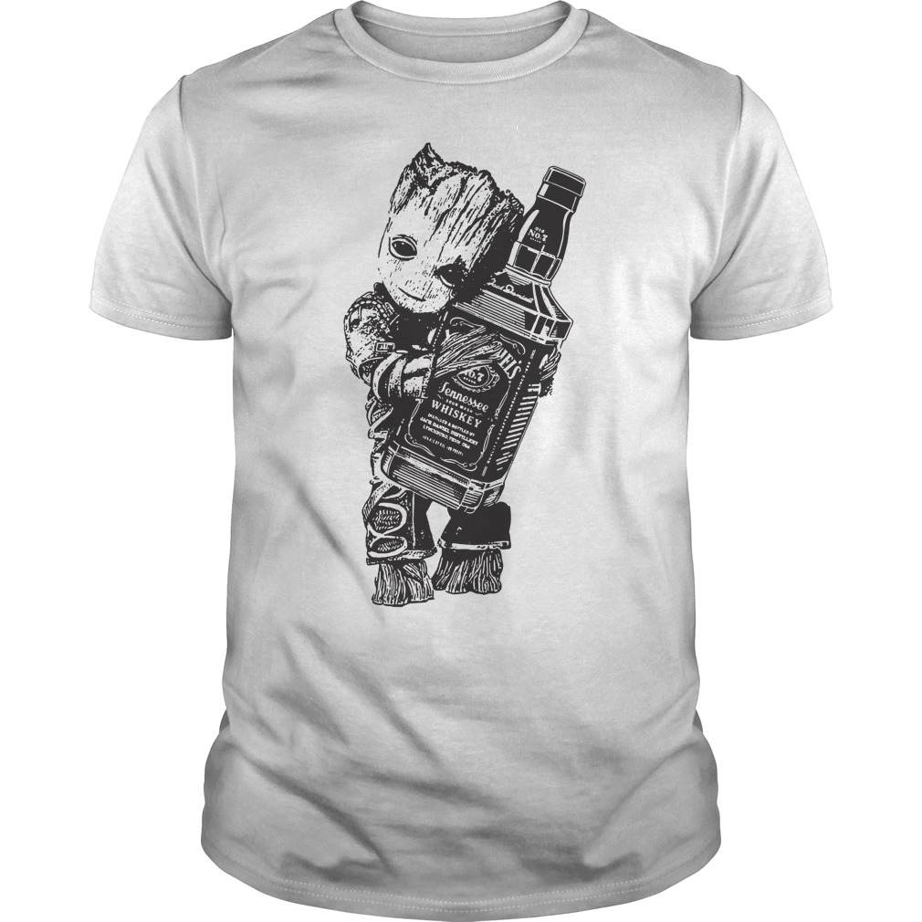 Groot hug Jack Daniel's shirt