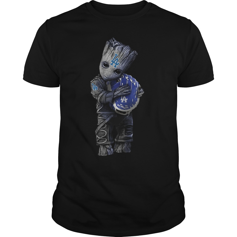 Groot hug Los Angeles Dodgers shirt