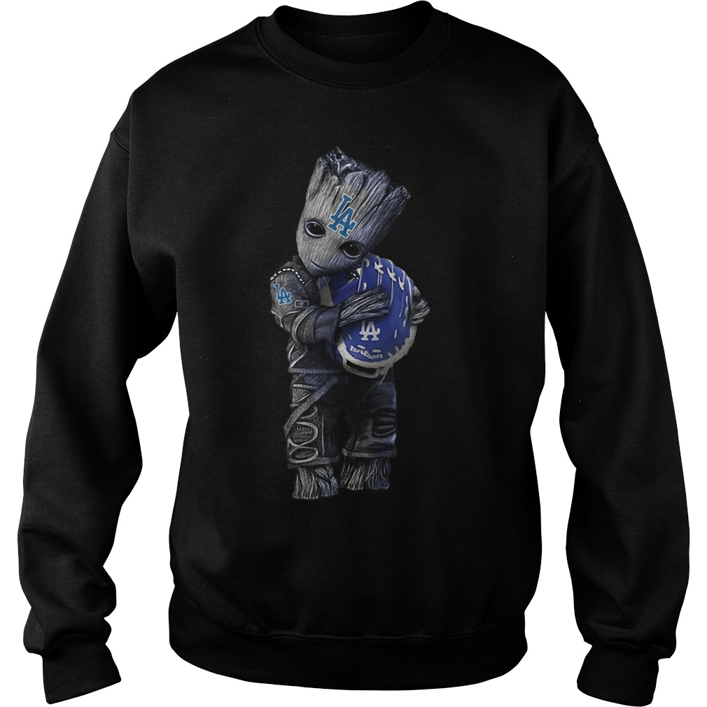 Groot hug Los Angeles Dodgers Sweater