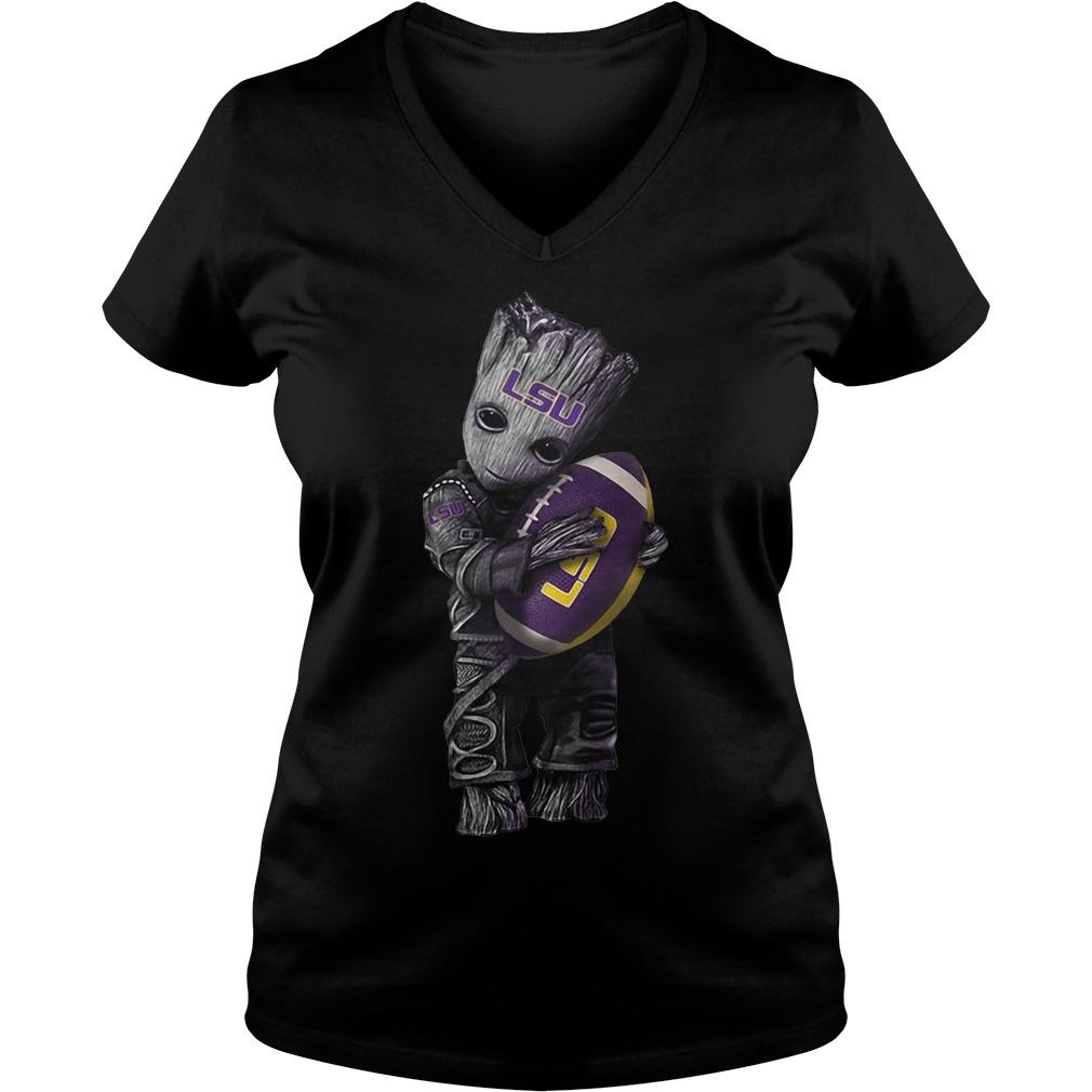 Groot hug Louisiana State University V-neck t-shirt