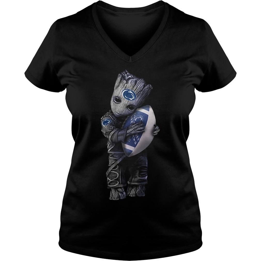 Groot hug Penn State Nittany Lions V-neck t-shirt