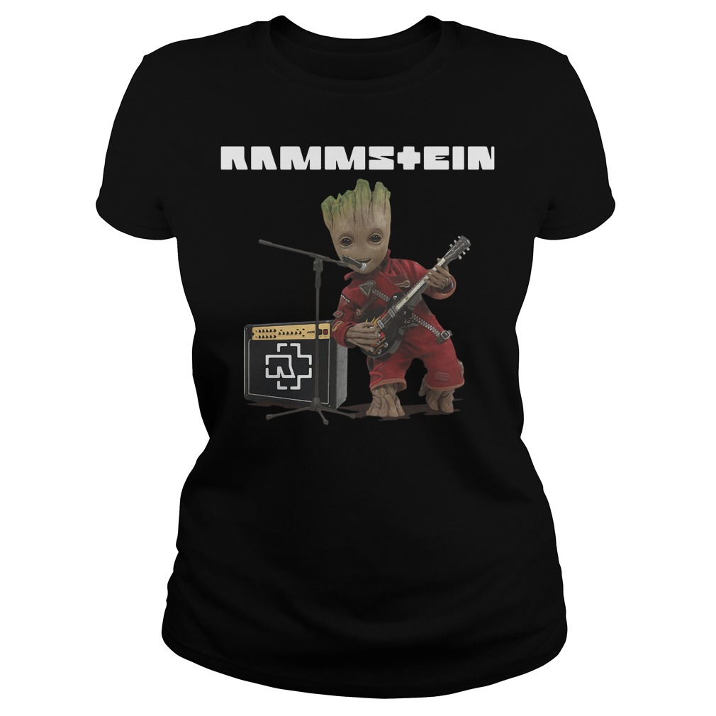 Groot singing Rammstein Ladies tee