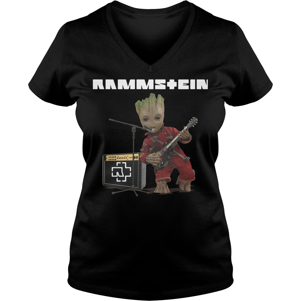 Groot singing Rammstein V-neck t-shirt