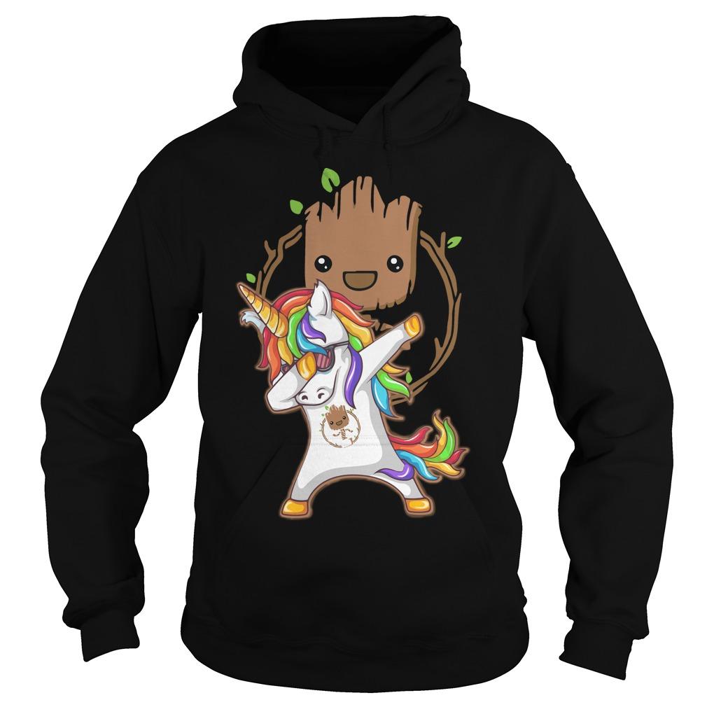 Groot Unicorn Dabbing Hoodie