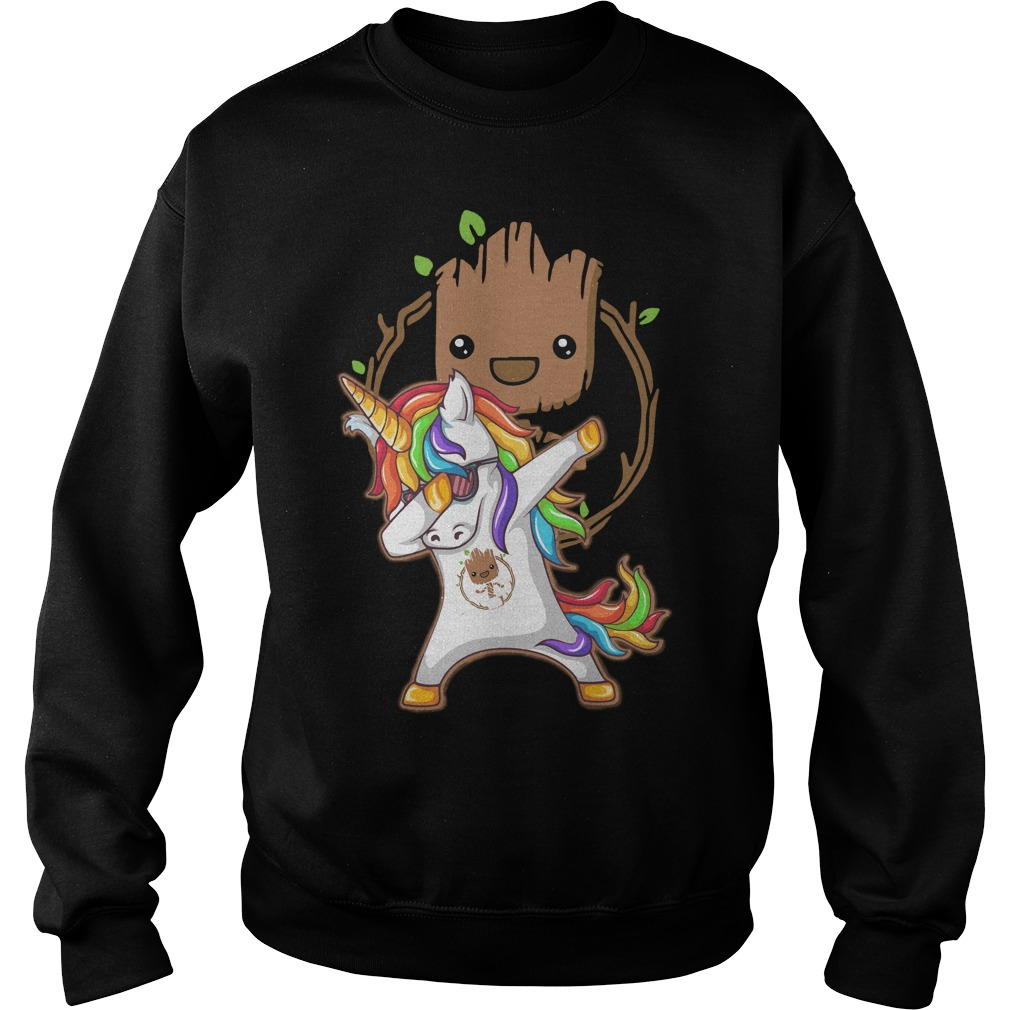 Groot Unicorn Dabbing Sweater