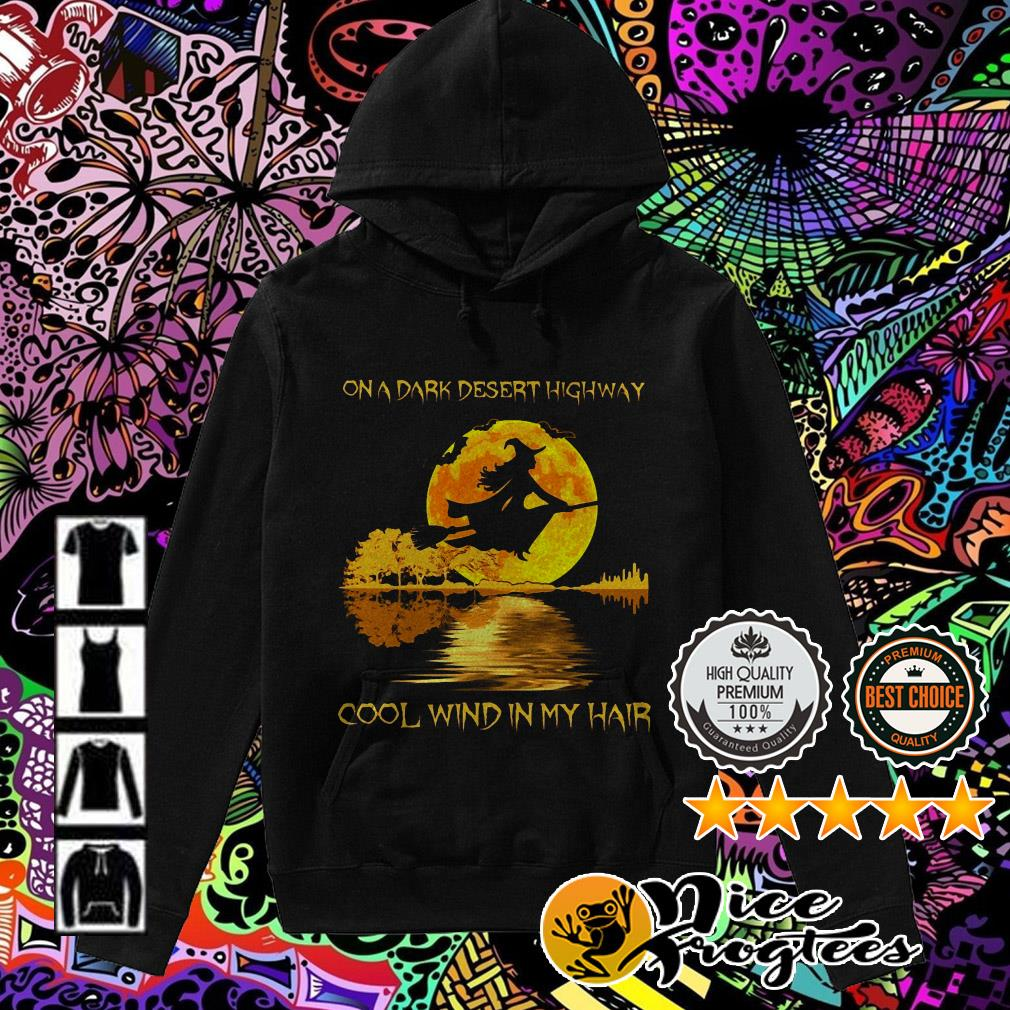 Halloween guitar witch on a dark desert highway cool wind in my hair Hoodie