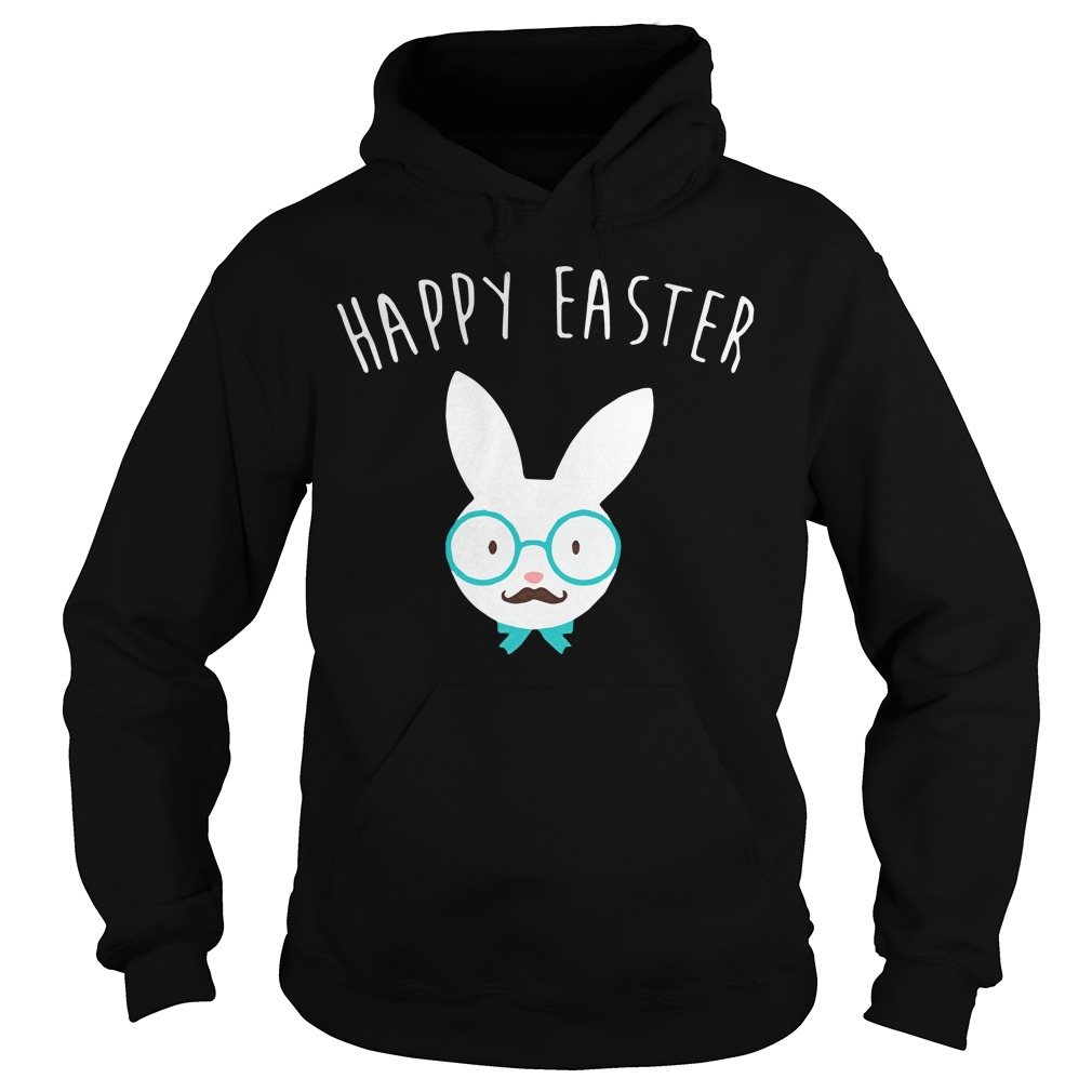 Happy easter Hipster bunny Hoodie
