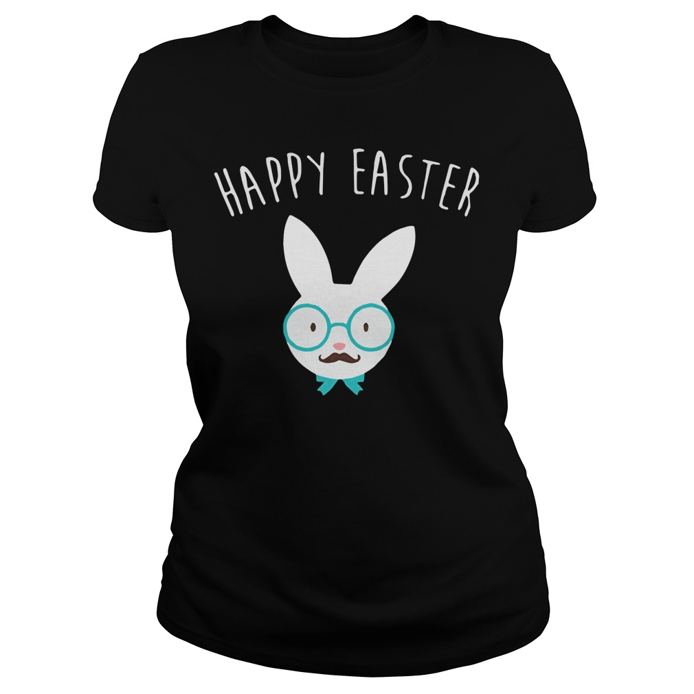 Happy easter Hipster bunny shirt