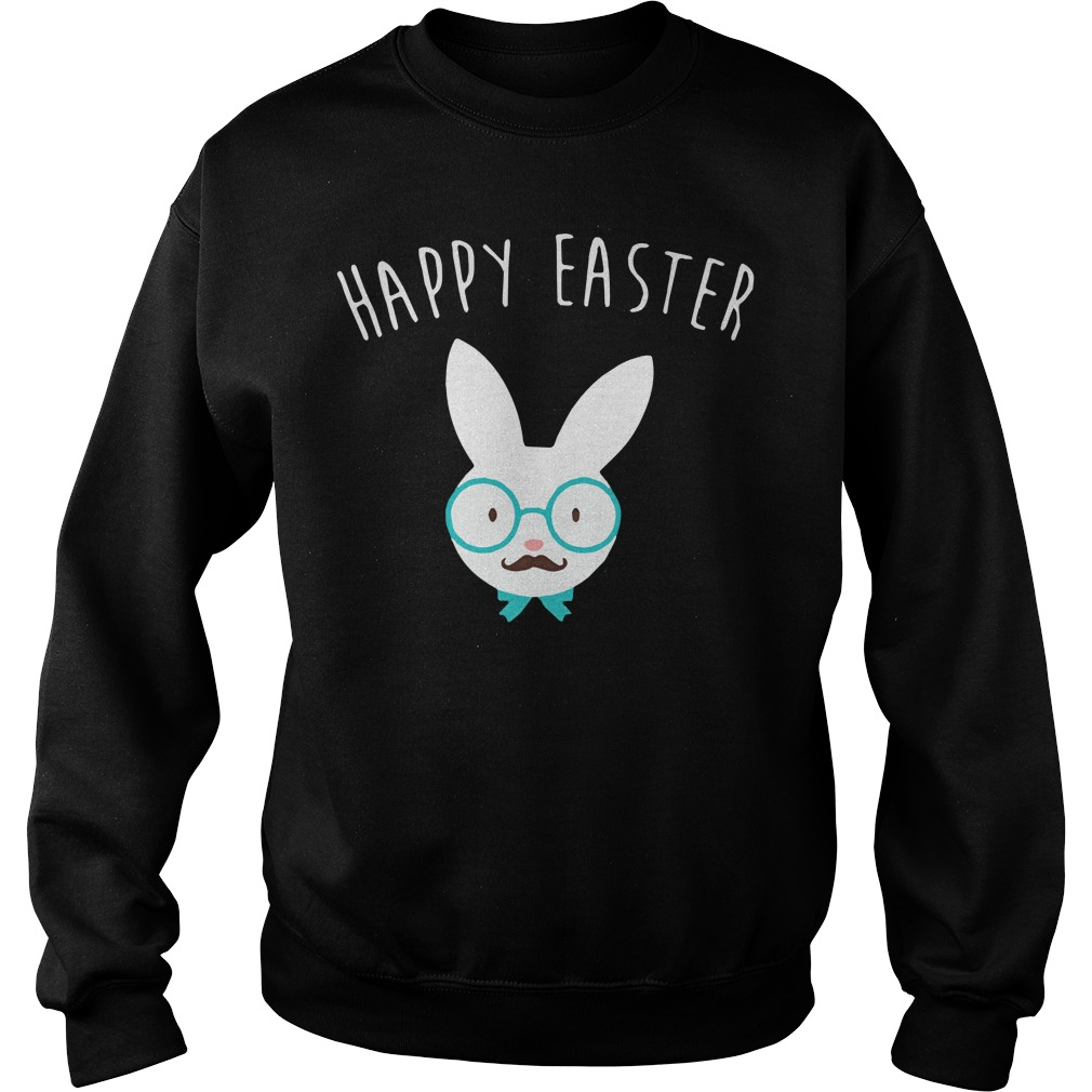Happy easter Hipster bunny Sweater