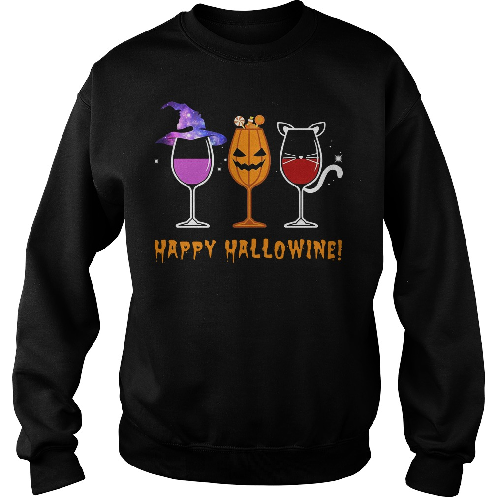 Happy Hallowine - Halloween Wine Sweater