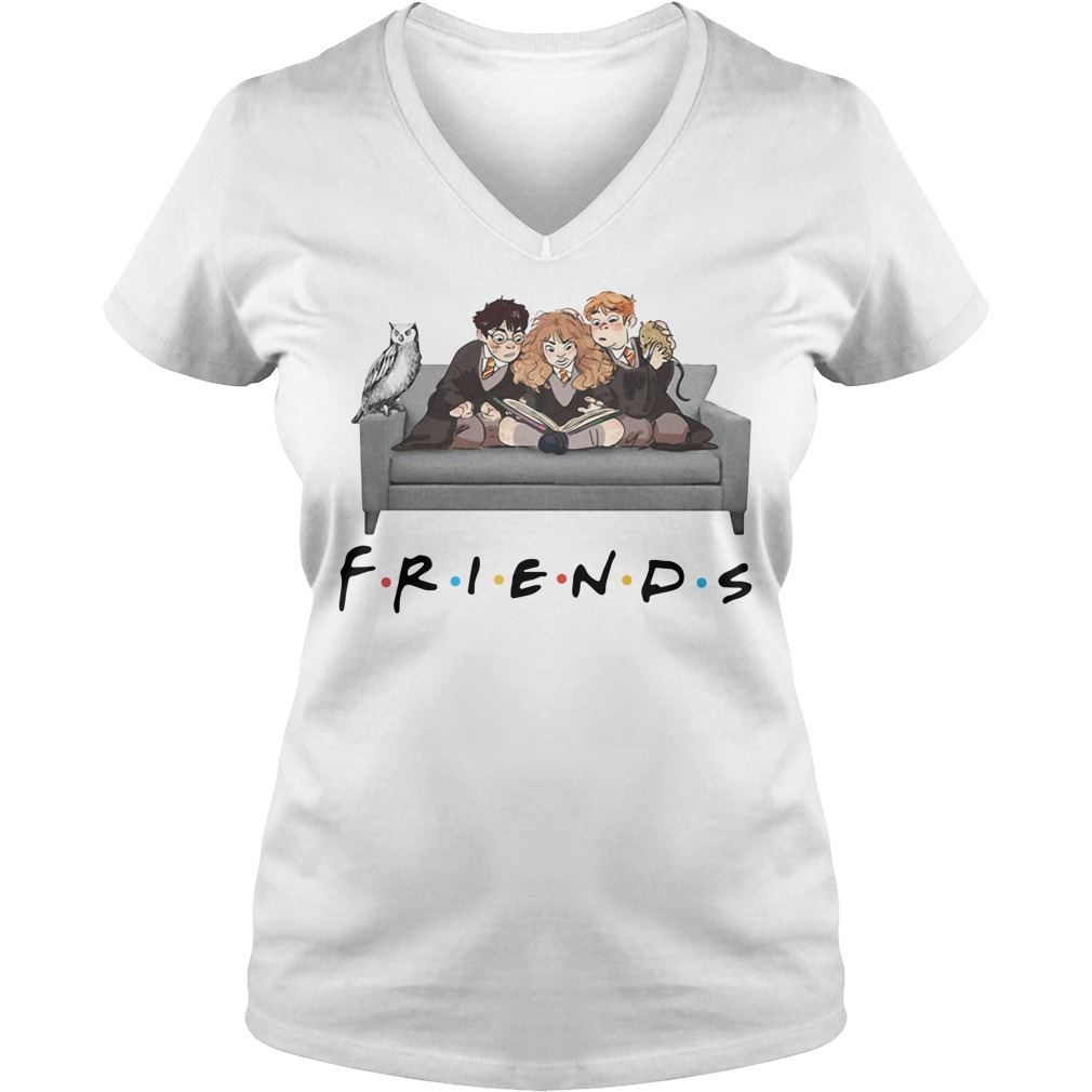 Harry Potter Friends TV Show V-neck T-shirt